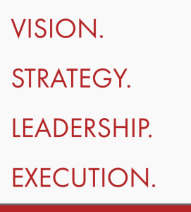 VISION | STRATEGY | LEADERSHIP | EXECUTION
